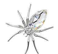 Women Jewelry Alloy White Brooches 1ps