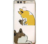 For HUAWEI P9 V8 Case Cover Little Fox Pattern Embossed Scrub TPU Material Phone Case