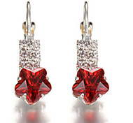 Earrings Crystal Simulated Diamond Alloy Jewelry Party 1 pair