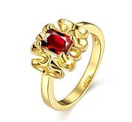 Ringe Ohne Stein Normal Schmuck vergoldet Rose Gold überzogen Damen Ring 1 Stück,7 8 Goldfarben Rotgold