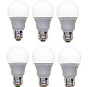12W E26/E27 Круглые LED лампы A60(A19) 12 SMD 2835 1200 lm Тёплый белый Холодный белый Декоративная AC 220-240 V 6 шт.