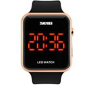 SKMEI Муж. Модные часы Цифровой LED Календарь Защита от влаги Фосфоресцирующий PU Группа Cool Черный Белый Роуз