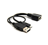 Black Color Micro USB 2.0 OTG Host Flash Disk Cable With USB Power For Galaxy S3 i9300 S4 i9500 Note2 N7100 Note3 N90