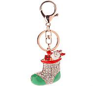 Key Chain Key Chain Diamond Red Silver Metal
