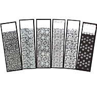 6pcs Christmas Nail Art Polish Transfer Sticker White Flower Lace Snowflake Manicures Tool