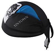 XINTOWN Cycling Hat Headband Bike Bicycle Pirate Cap Scarf Sweat Proof Bandana Mens and Womens Riding Cap Black & Blue