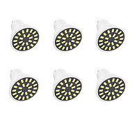 6PCS 5W GU10 Decoration Light  24LED SMD 5733 380LM-400LM  Warm White / Cool White AC110 / AC220 V