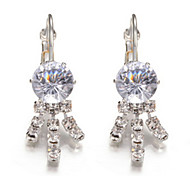 Hoop Earrings Crystal Simulated Diamond Alloy Jewelry Party 1 pair