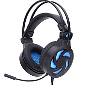 SOYTO Wired Luminous Gaming Headphones Stereo Bass Game Headset Fone De Ouvido Auriculares Foldable Earphone Audifonos With Mic for Gamer PC