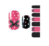 yemannvyou®14pcs Mode bowknot&Spot Nagelkunst Glitzer Sticker B1030