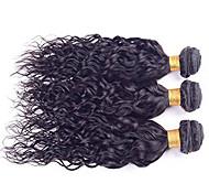 Tejidos Humanos Cabello Cabello Brasileño Ondulado Pequeño 12 meses 3 Piezas los tejidos de pelo