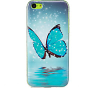 For Glow in the Dark  IMD Case Back Cover Case Butterfly  Soft TPU for Apple iPhone 7 Plus  7  6s Plus 6 Plus   6s  6  SE 5 S5 5C