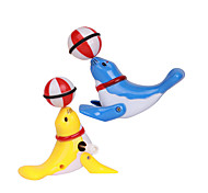 Wind-up Toy Novelty Toy Toys Novelty Plastic Blue Yellow For Boys For Girls Random Color