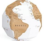 поделки творческий царапина шар сборка 3d стерео глобус карта мира вертикальный мир подарок