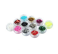 A Set Of 12 Color Nail Hexagon Glitter Nail Sequins 12 Color Super Computer Suits