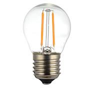 2W E14 B22 E26/E27 Bombillas de Filamento LED G45 2 SMD 2835 400 lm Blanco Cálido Blanco Fresco Decorativa AC110 AC220 V 1 pieza