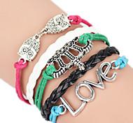 Women's Bangles Alloy Fashion Handmade Love Jewelry 1pc