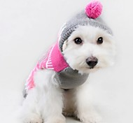 Cat Dog Sweater Hoodie Dog Clothes Cute Casual/Daily Color Block Blushing Pink
