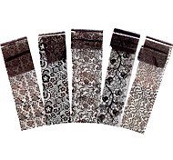 5pcs Black Flower Lace Nail Art Sticker Manicures Tool Polish Transfer Sticker Design