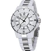 Mulheres Relógio Elegante Relógio de Moda Relogio digital Quartzo Digital LED Colorido Cerâmica Banda Casual Cores Múltiplas Branco Preto