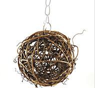 Bird Brown Wood Bird Toys 1pc