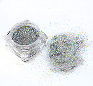 1g/bottle Shiny Laser Nail Art Glitter Powder Silver/Gold Color Mixed 0.2/0.4/0.6/1mm Design Manicure Tip Tool ND286