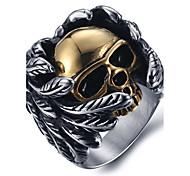 Муж. Массивные кольца Кольцо Мода бижутерия Титановая сталь В форме черепа Бижутерия Назначение Повседневные