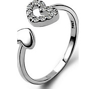 Ring / Sterling Silver Heart Fashion Silver Jewelry Casual 1pc