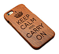 Wood British Empire Keep Calm and Carry On Hard Back Cover for iPhone 5/5s