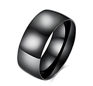 Ring Stainless Steel Titanium Steel Simple Style Fashion Black Jewelry Daily Casual 1pc