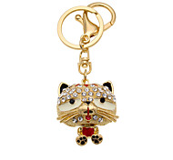 Cute little tiger diamond Car Keychain Key Chain female bag Pendant Jewelry