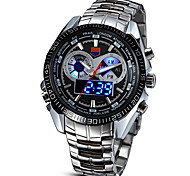 Men's Sport Watch Military Watch Dress Watch Fashion Watch Wrist watch Digital Watch LED Digital Alloy Band Vintage Casual Silver