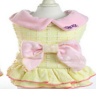 Dog Coat Dog Clothes Winter Solid Cute Yellow Blushing Pink
