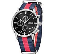 MEGIR Муж. Спортивные часы Армейские часы Нарядные часы Модные часы Наручные часы Кварцевый Цифровой Календарь Материал Группа Винтаж С