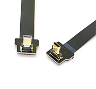 10cm 90 Degree Up Angled FPV Micro HDMI Male to Micro HDMI FPC Flat Cable for GOPRO Multicopter Aerial Photography
