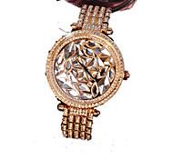 Women's Fashion Watch Simulated Diamond Watch Calendar Imitation Diamond Quartz Alloy Band Sparkle Rose Gold