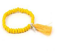 Bracelet Strand Bracelet Wood Locket Friendship Daily Casual Jewelry Gift Yellow Blue Pink,1pc