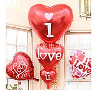 супер большой три сердца я сердце вы украшения шары Фильм воздушный шар место проведения алюминиевая свадьба