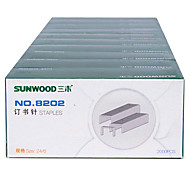 Sunwood®  8202 12 # 25 Pages Of Staples/Stitching Needle 2000Pcs / Box 10 Boxes