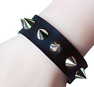 Women's Leather Bracelet Vintage Gothic Punk Handmade Leather Skull / Skeleton Irregular Jewelry For Halloween