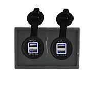 12v / 24v tomada USB poder 2pcs 3.1a com o painel titular habitação para barco carro caminhão rv