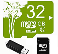 Plant Theme 32GB Micro SD TF Card  with SD SDHC Adapter and Multi-function OTG USB Card Reader