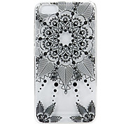 For Wikon Lenny3 phone Case  Black Flower Lace Embossed Pattern TPU Material High Penetration
