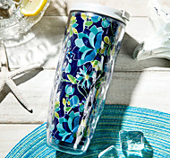 Classic Outdoor Drinkware, 500 ml BPA Free Double Wall Plastic Tea Coffee Tumbler