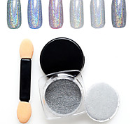 1g Manicure Mirror Silver Powder Colorful Jewelry 1g Manicure Boxed With the Wand