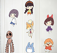 Cartoon Spirited Away Wall Stickers Fashion Family Plane Wall Stickers Decorative Bedroom Wall Stickers Paper Material Home Decoration Wall Decal