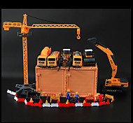 Construction Vehicle Farm Vehicle Parking Garage Toy Sets Car Toys 1:10 Plastic Metal Yellow Model & Building Toy