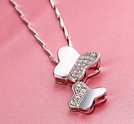 Pendants Animal Shape Butterfly Sterling Silver Basic Unique Design Fashion Jewelry For Daily