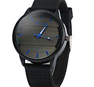 Hombre Reloj Deportivo Reloj de Moda Cuarzo Digital Esfera Grande Caucho Banda Casual Negro