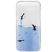 For Samsung Galaxy A5(2017) A3(2017) Case Cover Penguin Pattern High Permeability TPU Material IMD Craft Phone Case